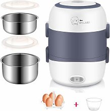 Dljyy Mini Rice Cooker 2/3 Layers Stainless Steel
