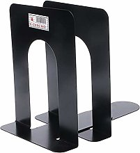 Dljyy Simple Style Metal Bookends Iron Support