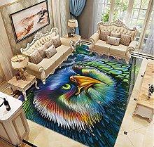 DLSM Modern fashion colorful feather eagle print