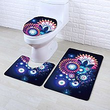DLSM Non Slip Bathroom ToilMachine Washable Bath