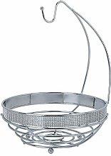 DMAR Chrome Fruit Bowl, Metal Wire Basket with