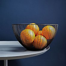 DMAR Metal Fruit Bowl, Black Wire Fruit Basket,