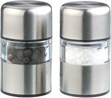 DMD Stainless Steel Mini Gem Salt and Pepper Mill