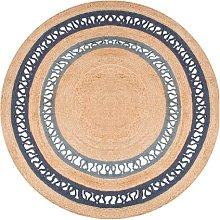 Dn Handicraft Indian Natural Fiber Handmade Blue