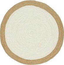 Dn Handicraft Indian Natural Fiber Handmade White