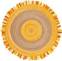 Dn Handicraft Indian Natural Fiber Handmade Yellow