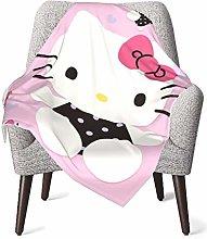 DNBCJJ Comfort Baby Blanket, Black Kitty Soft Warm