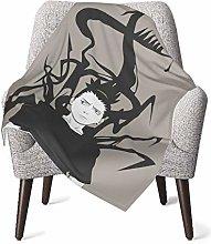 DNBCJJ Comfort Baby Blanket, Black Naruto Soft