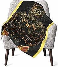 DNBCJJ Comfort Baby Blanket, Gold Black Panther
