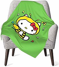 DNBCJJ Comfort Baby Blanket, Hello Kitty Bee Soft