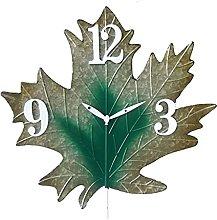 DNGDD Maple Leaf Wall Clock Modern Silent Simply