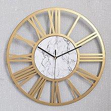 DNGDD Metal Wall Clock Vintage Silent Battery