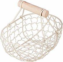 Dniu Egg Basket Metal Egg Storage Basket Egg