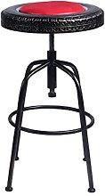 DNSJB Iron Bar Stool Bar Chair Simple Retro High