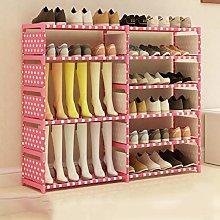DNSJB Tall Shoe Organiser Stainless Steel Foldable