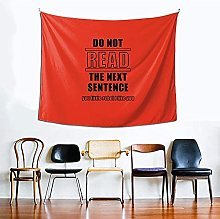 Do Not Read The Next Sentence Tapestry Curtain for