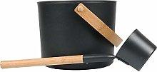 Doans Sauna Bucket with Long Handle Spoon Set 7L