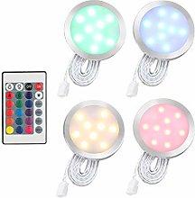 Docooler LED Under Cabinet Light Kit 9LEDs RGB