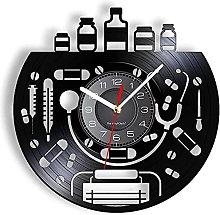 Doctor Equipment Vinyl Record Wall Clock Doctor