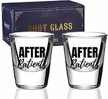Doctor Gifts, Shot Glasses Set of 2, Funny