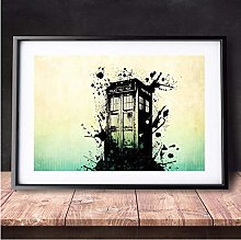 Doctor Who Police Box Artwork Canvas Art Print