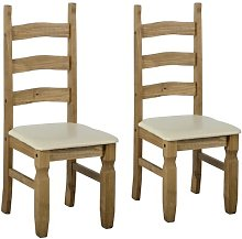 Dodge Solid Pine Upholstered Dining Chair Union
