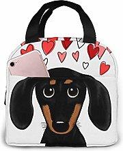 DODOD Daschund Dog Love Insulated Zip Cooler Bag