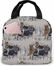 DODOD German Shepherds Portable Insulated Lunch