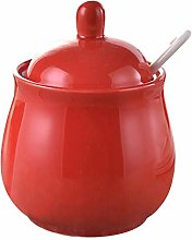 DoDola Ceramics Sugar Bowl Spice Jar with Lid and