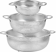 DODUOS Colander Set of 3, Stainless Steel