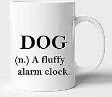 Dog- A Fluffy Alarm Clock Ceramic Coffee Mug or