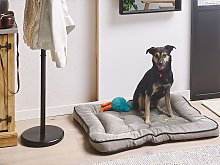 Dog Bed Grey Fabric 90 x 70 cm Pillow Pet Sofa