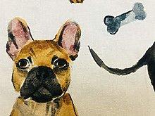 Dog Breeds Animal Print Pattern Fabric Cotton Pets