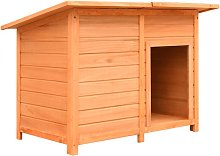 Dog Cage Solid Pine & Fir Wood 120x77x86 cm -