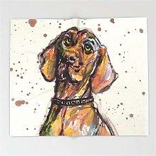 Dog Closeup Blanket Funny Printed Soft Boy Girl