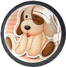 Dog Doll 4 Pieces Crystal Glass Wardrobe Handles