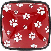 Dog Footprints Kitchen Cabinet Knobs Drawer Knobs