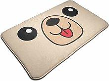 Dog Happy Square Face Head Icon Bath Mat Door Mats