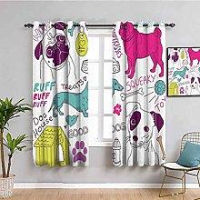 Dog Lover Decor Collection Farmhouse curtain Love