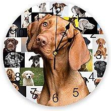 Dog Portrait Great Dane 3D Wall Clock Modern