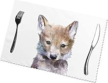 Dog Printing Placemats for Dining Table Table Mats