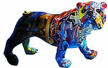 Dog Sculpture Graffiti Art Dog Modern Decor Resin