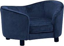 Dog Sofa Blue 69x49x40 cm Plush - Blue - Vidaxl