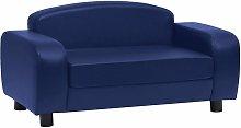 Dog Sofa Blue 80x50x40 cm Faux Leather - Blue -
