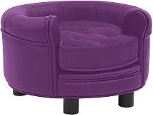 Dog Sofa Burgundy 48x48x32 cm Plush and Faux