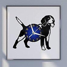 Dog theme vinyl record wall clock wall clock