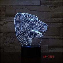 Dog Zodiac 3D Night Light LED Touch Table lamp