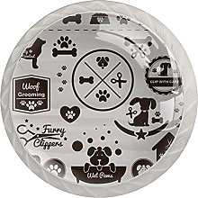 Dogs Badges- 4PCS Round Shape Cabinet Knobs for