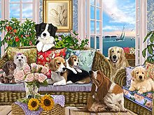 Dogs on The Sofa Jigsaw Puzzle 500 Piece20.5 * 15in