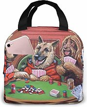 Dogs Playing Poker Insulated Lunch Bag Cooler Tote